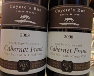 Coyote's Run 2008 Cab Francs